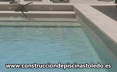 Construcción Piscinas de Obra de Porcelánico Toledo